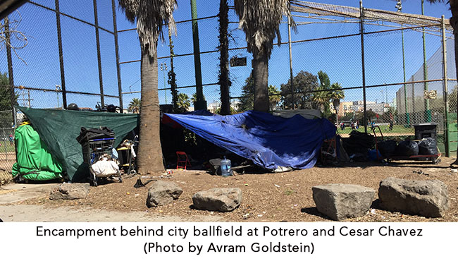 Ball Field Homeless Encampment