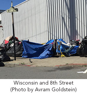 Wisconsin and Eighth Street Homeless Encampment