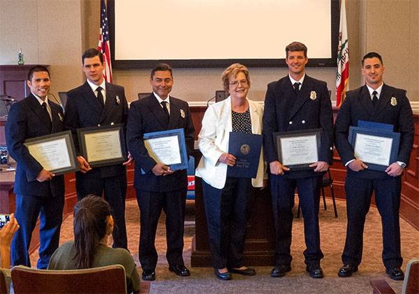 First graduating class of paramedics in the City of Alameda, 2015.