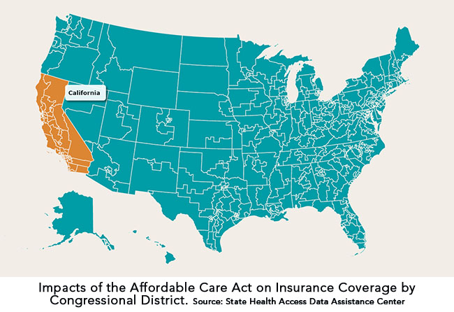 Impacts of the Affordable Care Act on Insurance Coverage by Congressional District