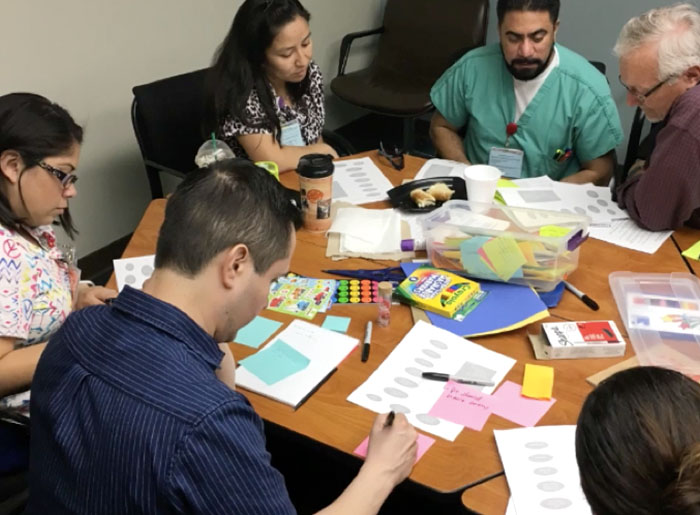 Team from UCLA-Olive View Medical Center's Positive Care Clinic—where staff from safety-net clinics build innovation skills rooted in design thinking principles and then apply them to pilot projects.