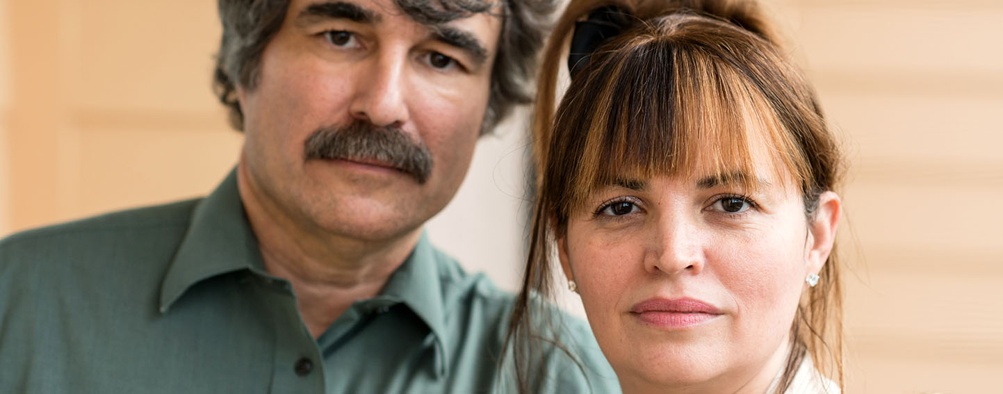 Portrait of Latino couple, close up