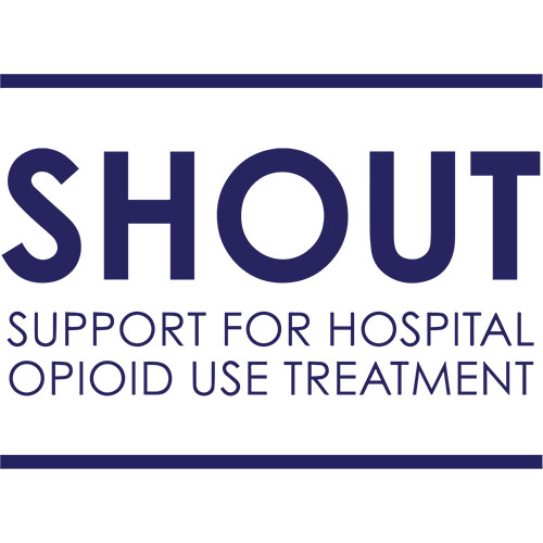 Logo for Project Shout Support for Hospital Opioid Use Treatment