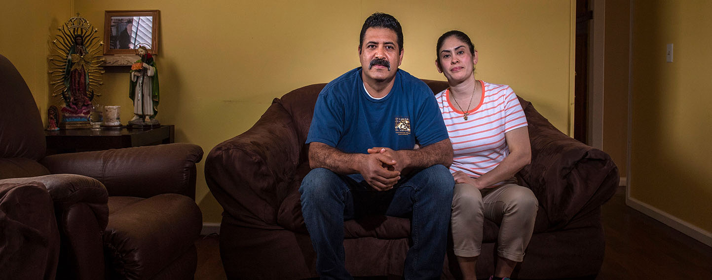 : Eduardo and Maria Contreras sit in the living room of their mobile home in San Juan Capistrano on Wednesday, March 20, 2019. The two make too much money for Medi-Cal, but what they earn is still not enough to purchase Covered California health plans because they don't qualify for subsidies under the Affordable Care Act. (Photo by Mark Rightmire, Orange County Register/SCNG)