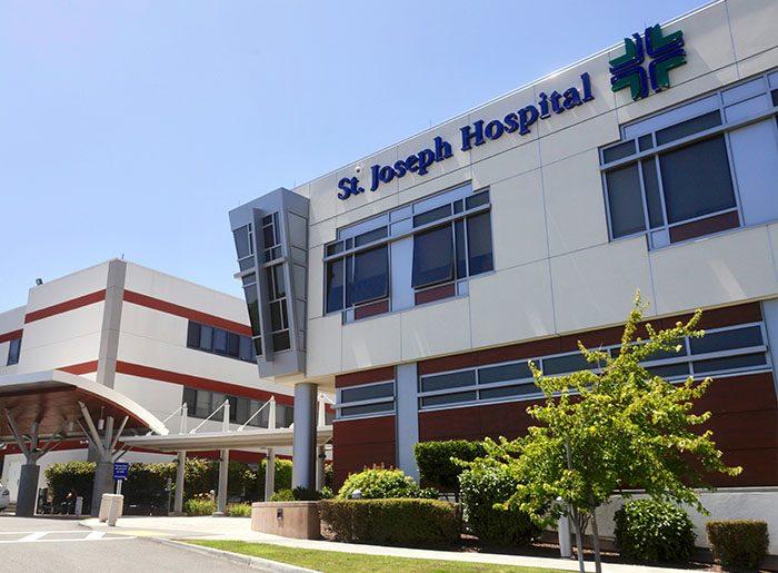Exterior of St. Joseph Hospital