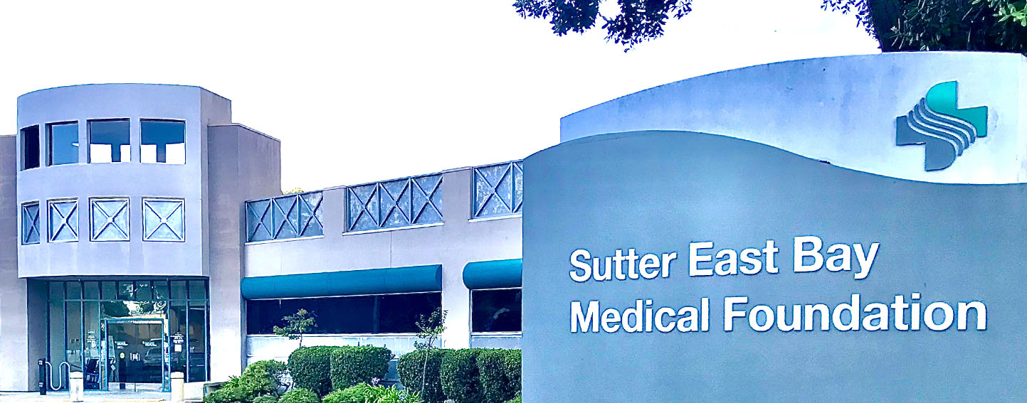 Sign in front of Sutter East Bay Medical Foundation, Albany Campus