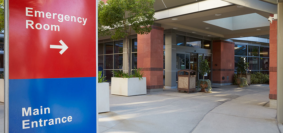 Emergency Room Entrance Sign