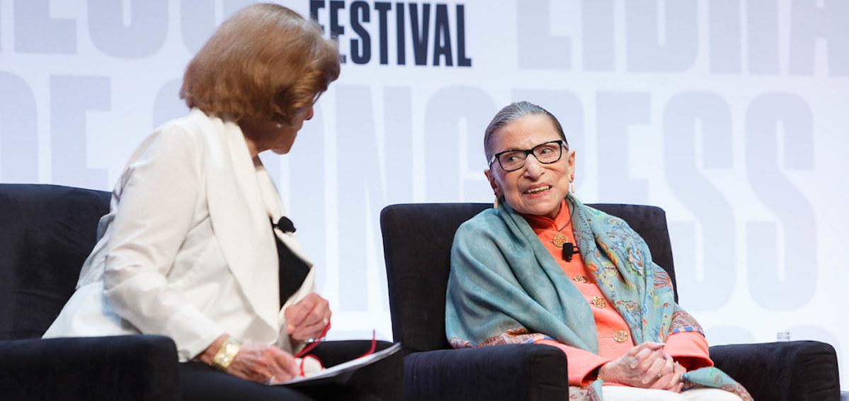 Ruth Bader Ginsburg at a Library of Congress book festival