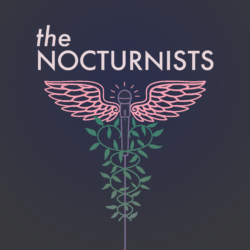 Logo for the CHCF-sponsored podcast The Nocturnists