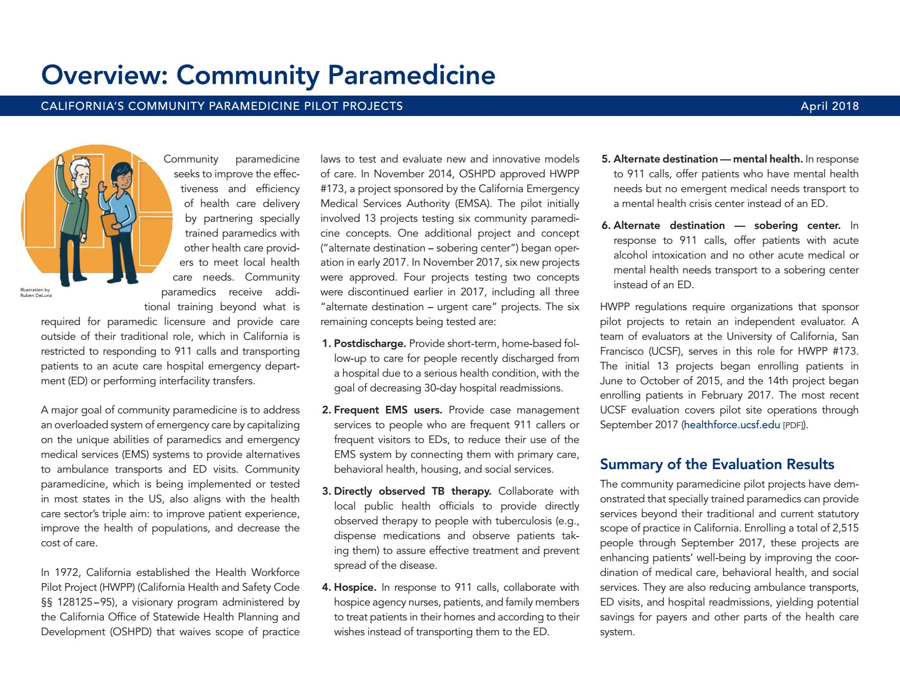 Overview of Community Paramedicine