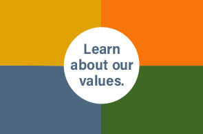 Learn about our values.