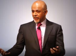 Abraham Verghese speaking at a conference