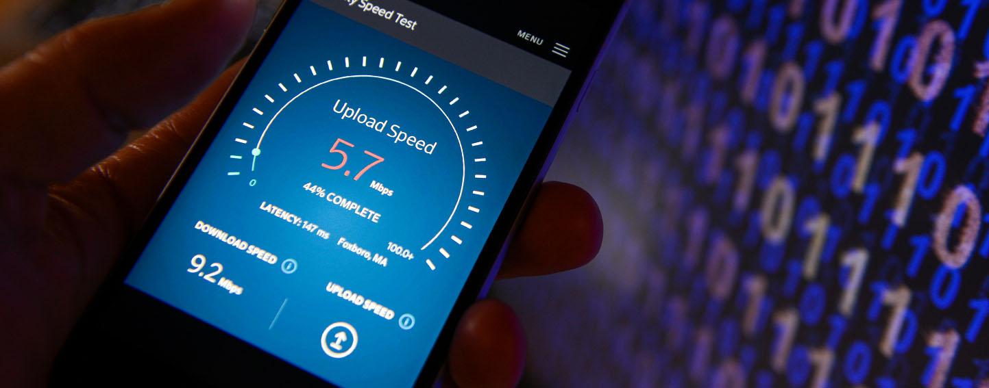 Testing upload speed on phone app