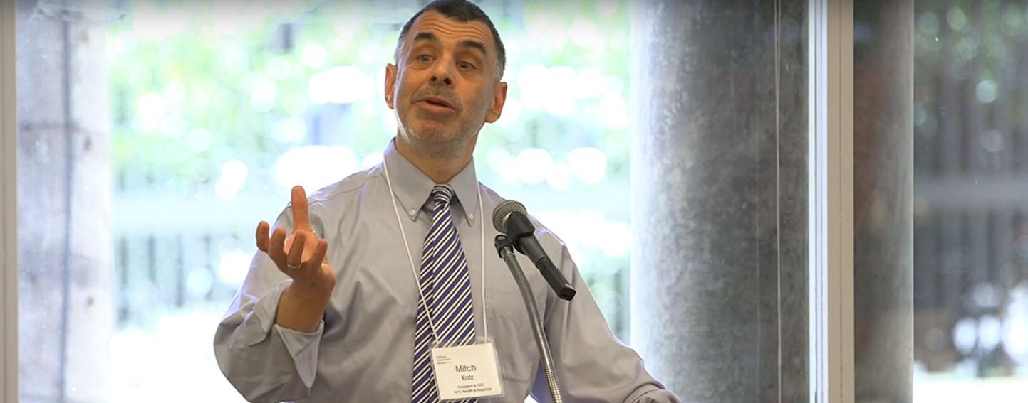 Mitch Katz speaks at California Improvement Network meeting.
